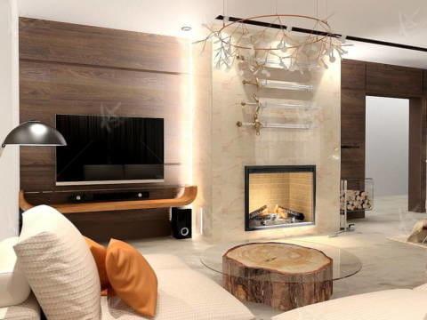 Дизайн интерьера Лайт — телевизор в гостиной