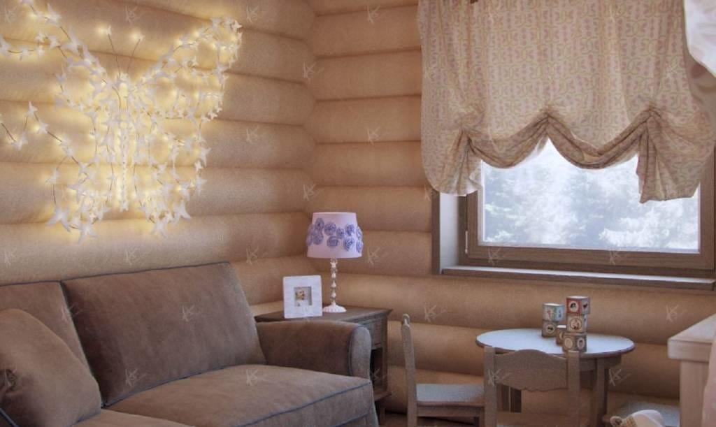 Кантри - диван в гостиной