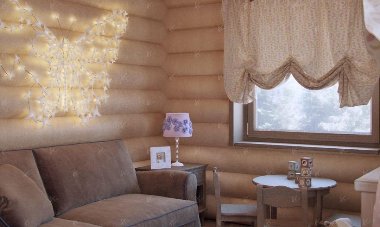 Дизайн Кантри — диван в гостиной