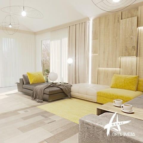 Mellow Yellow - диваны в гостиной