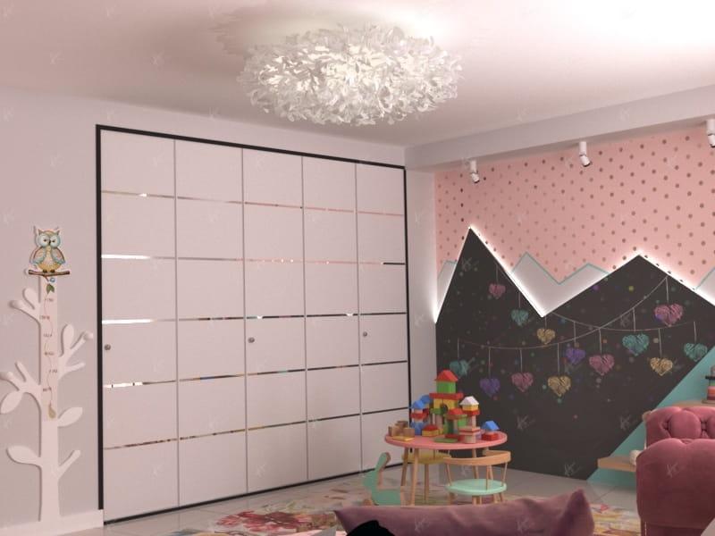 Дизайн-проект Майами - Стенка в детской