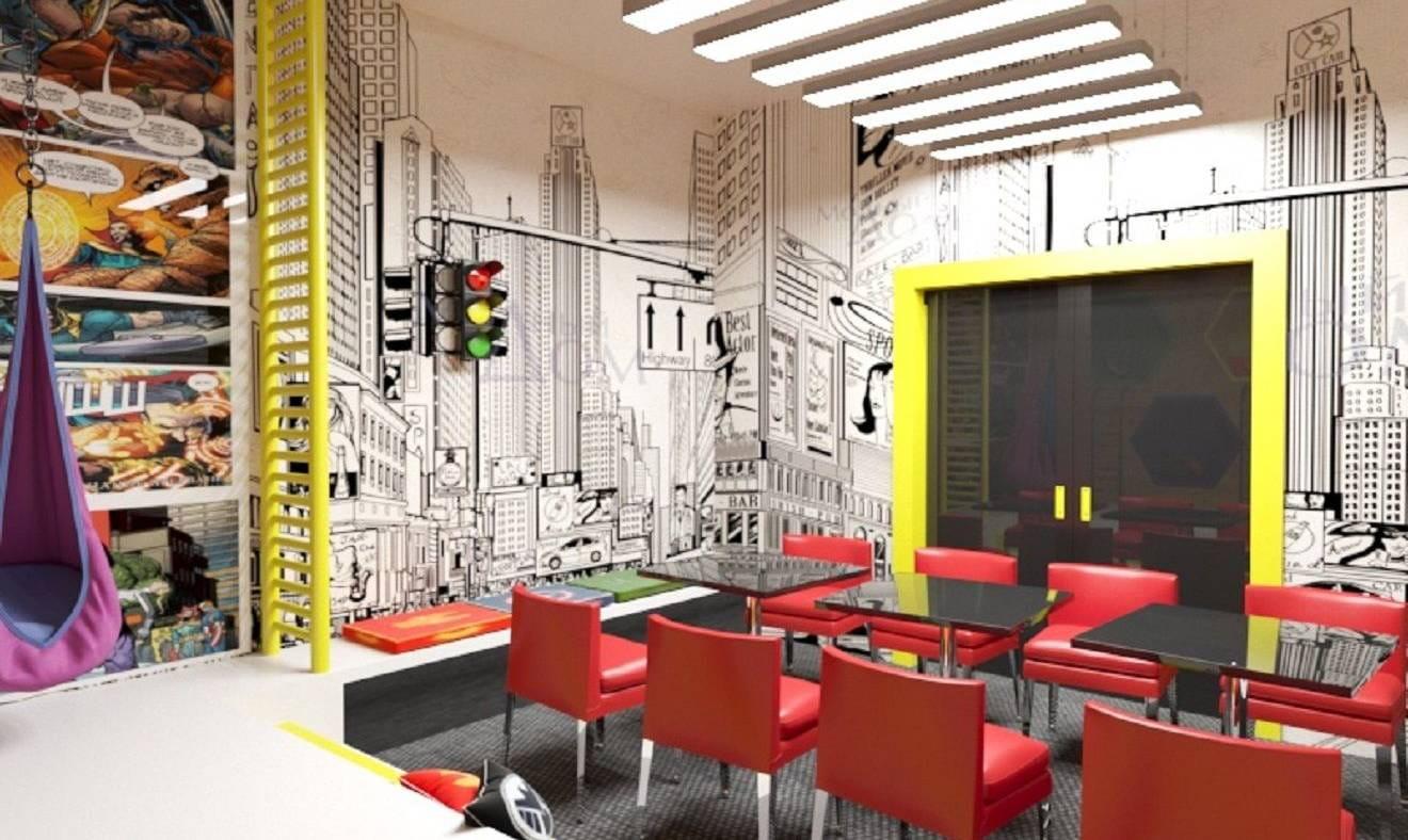 Дизайн проект детских комнат в активити центре Муравейник 2