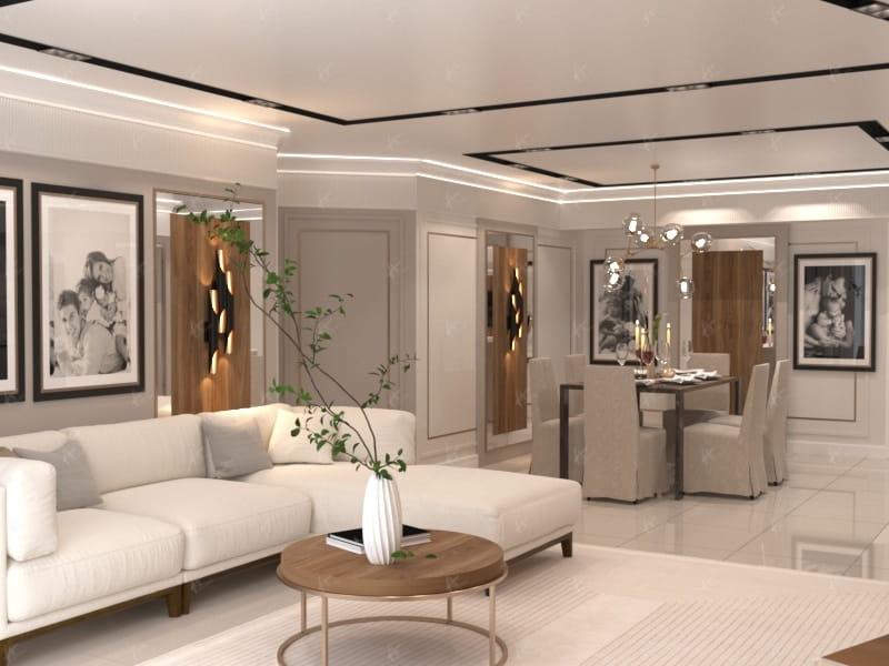 Дизайн проект Майами — Гостиная