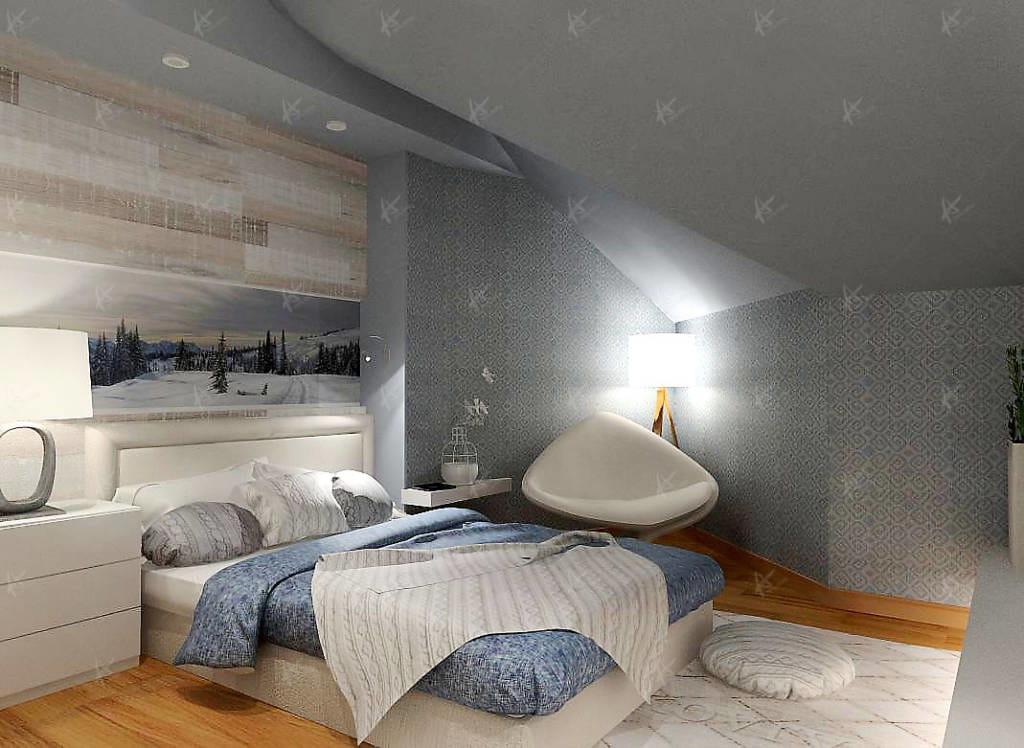 спальня в квартире Дубровка