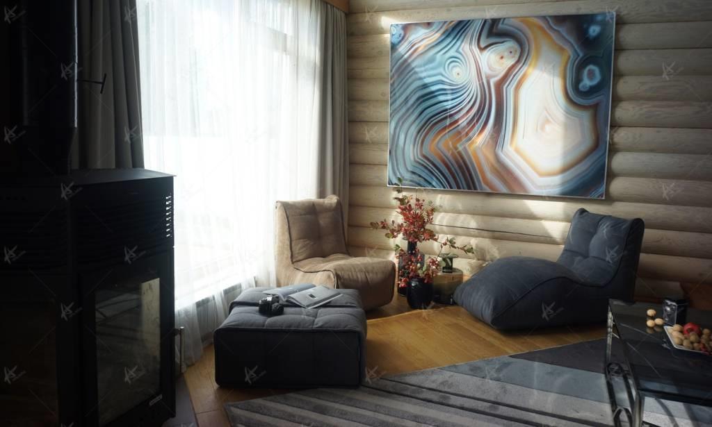 панфорте гостиная - два кресла и картина