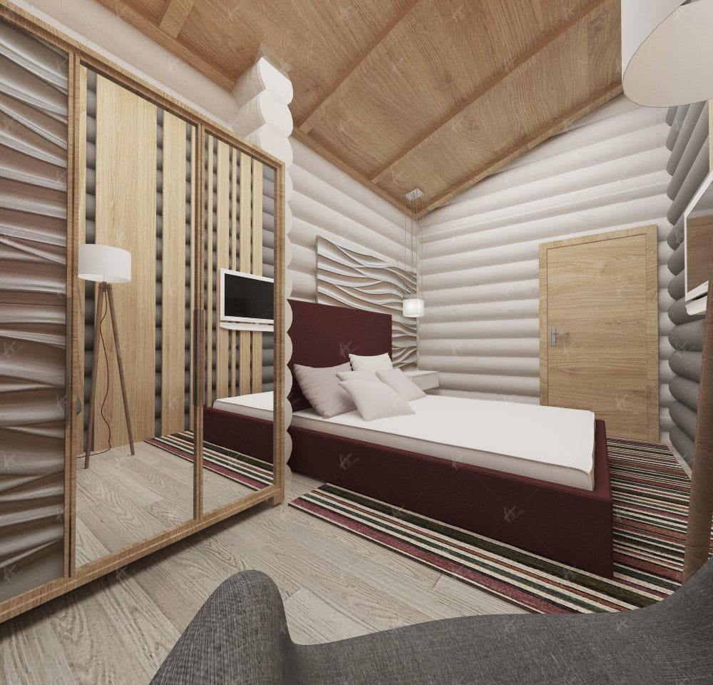 кровать в доме в стиле comfortable
