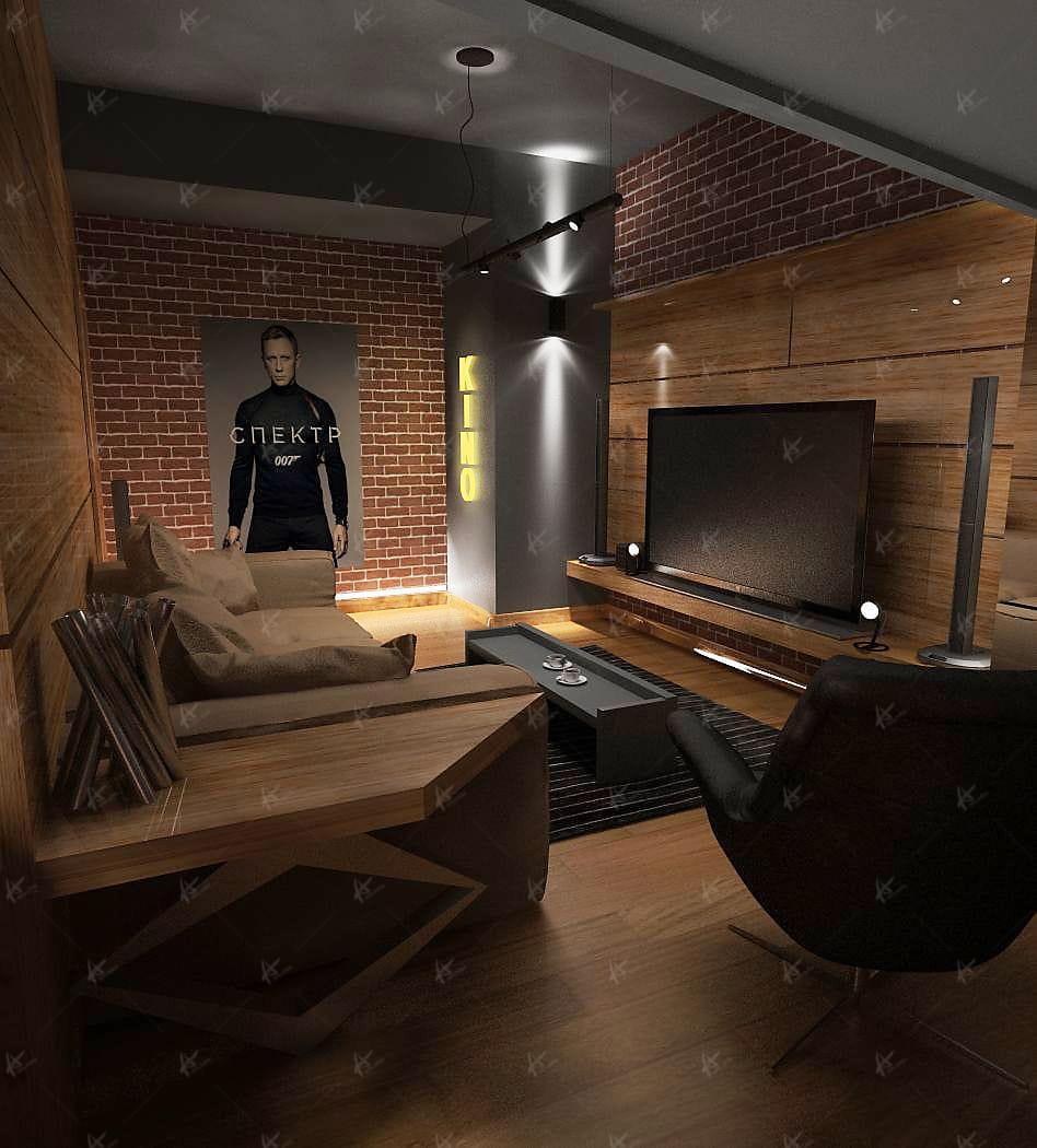 Проект кабинета в квартире Дубровка