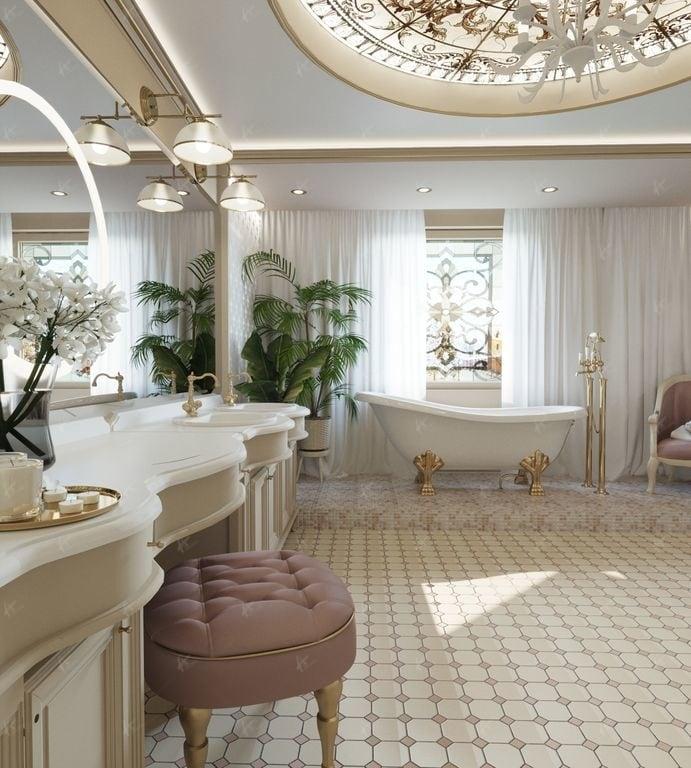 вторая ванная комната в доме Нефрит общий вид