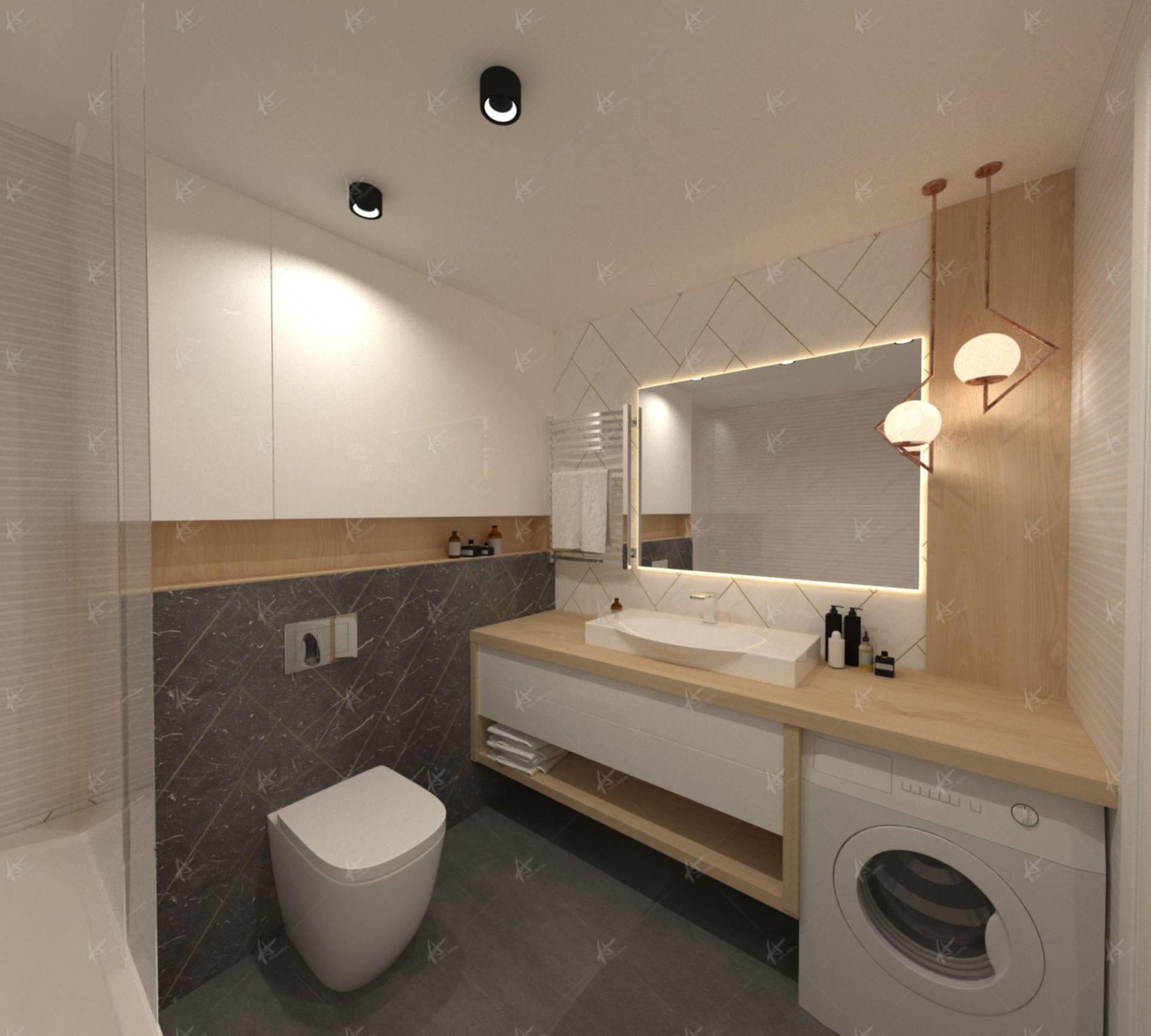 Ванная комната в квартире Лаконичность Дизайн интерьера в Кирове