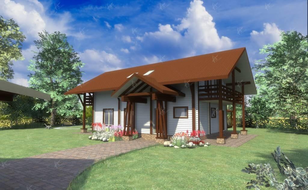 дом и участок с ландшафтным дизайном