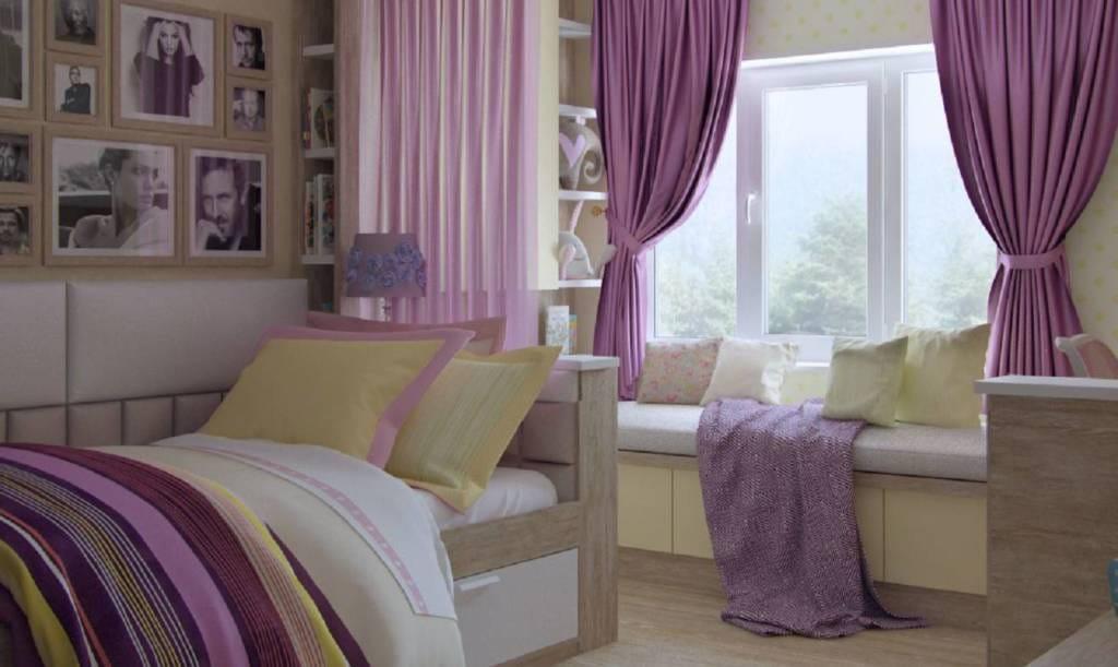 спальная комната в квартире безмятежность