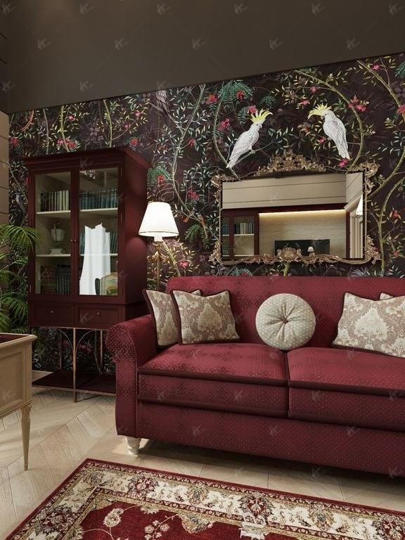 Нефрит - диван в кабинете