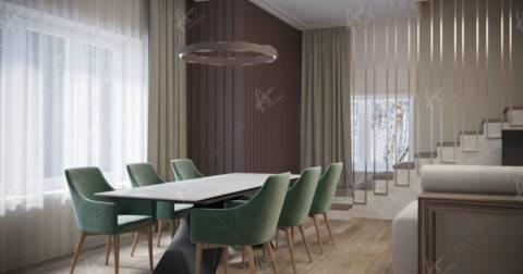 Концептуальное решение столовой-гостиной