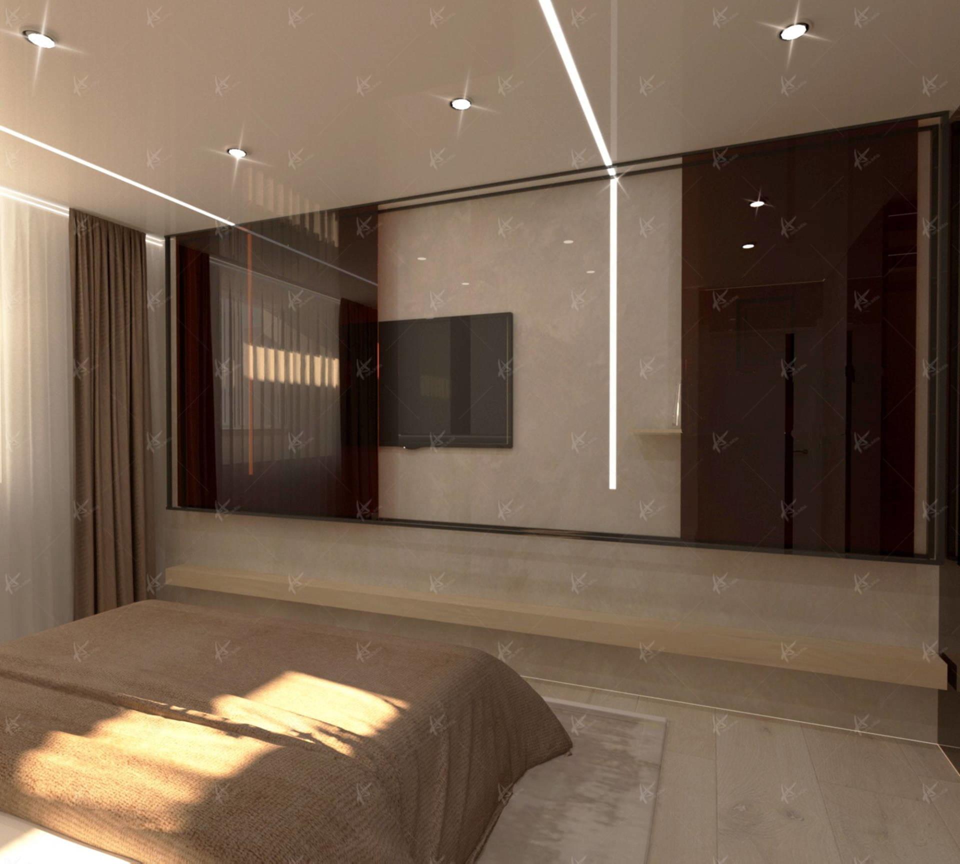 Спальня в квартире Лаконичность Дизайн интерьера в Кирове