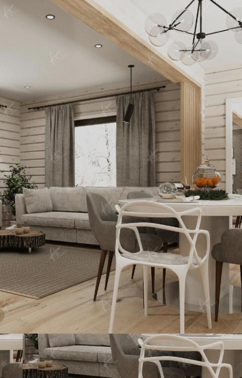 Дизайн в интерьере деревянных домов