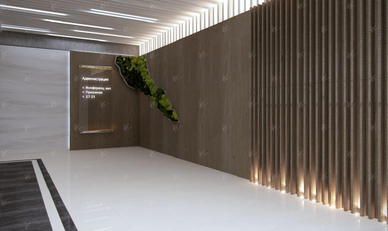 Дизайн проект коридора в офисе компании Вятка ЦУМ