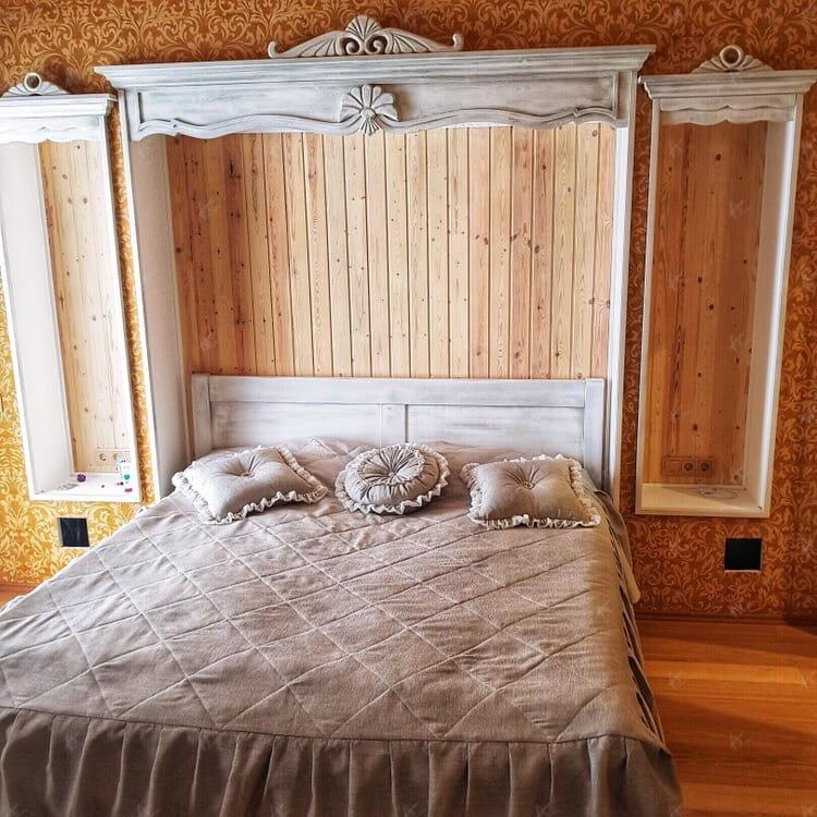 дом из кедра спальня
