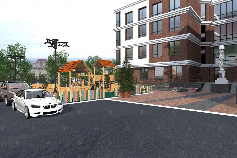 парковочные места во дворе