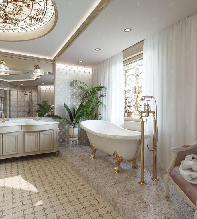 вторая ванная комната в доме Нефрит