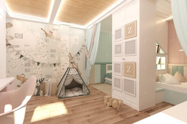 дизайн проект спальной green house 2