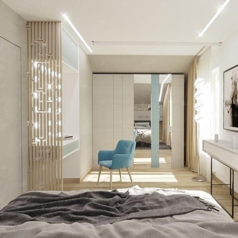 Дизайн проект спальной комнаты Mellow Yellow