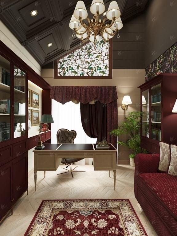 Нефрит - окно в кабинете